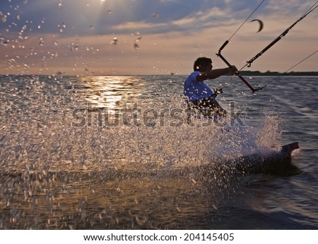Austria active person enjoying water sport in the lake - stock photo