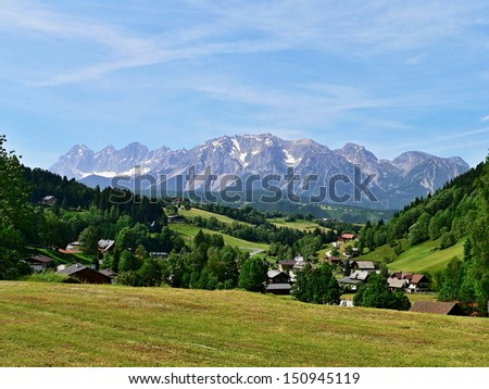 Austria,Alps-outlook of the Dachstein