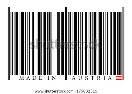 Austria Barcode on white background