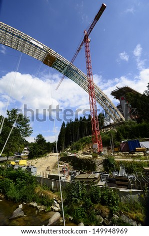 Austria, bridge construction for motorway in Upper Austria