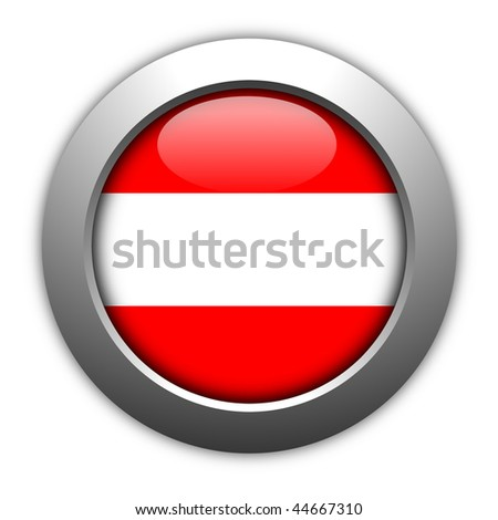 austria button flag sign or badge for website
