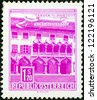 "AUSTRIA - CIRCA 1957: A stamp printed in Austria from the ""Buildings "" issue shows Corn Measurer's House, Bruck-on-the-Mur, circa 1957. - stock photo"