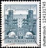 "AUSTRIA - CIRCA 1957: A stamp printed in Austria from the ""Buildings"" issue shows Heiligenstadt flats, circa 1957. - stock photo"