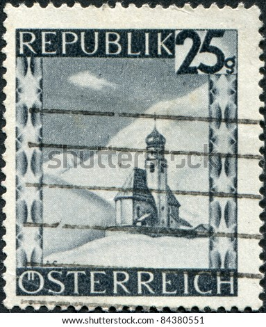 AUSTRIA - CIRCA 1946: A stamp printed in Austria, is shown Vent in Oetztal, Tyrol, circa 1946