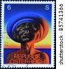 AUSTRIA - CIRCA 1978: A stamp printed in Austria, shows Adam, by Rudolf Hausner, circa 1978 - stock photo