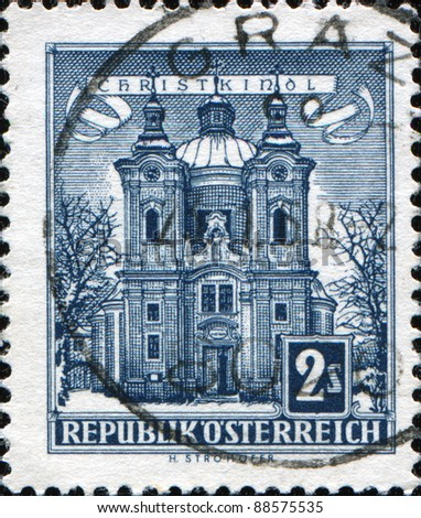 AUSTRIA - CIRCA 1957: A stamp printed in Austria shows Christkindl Church, circa 1957