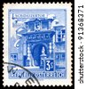 AUSTRIA - CIRCA 1962: A stamp printed in Austria shows Vienna Hofburg: Schweizertor (Swiss Gate), series, circa 1962 - stock photo