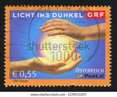 AUSTRIA - CIRCA 2003: stamp printed by Austria, shows Licht Ins Dunkel Fund-Raising Campaign for the Handicapped, circa 2003 - stock photo