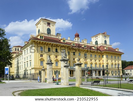 Austria, Eisenstadt, castle Esterhazy the landmark of the capital city of Burgenland. - stock photo