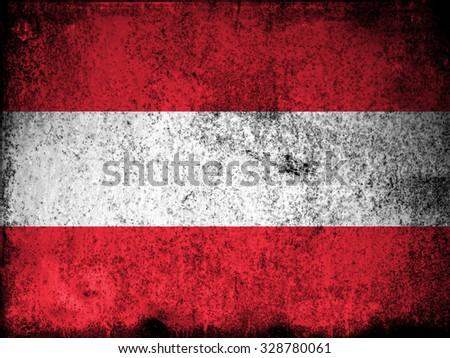 Austria Flag - stock photo