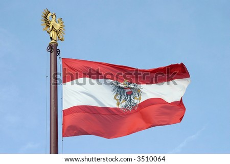 Austria flag flowing in the wind
