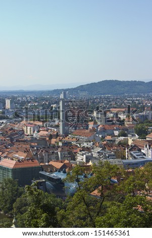Austria. Graz. Ancient architecture. The great Austrian city of Graz, the capital of Styria