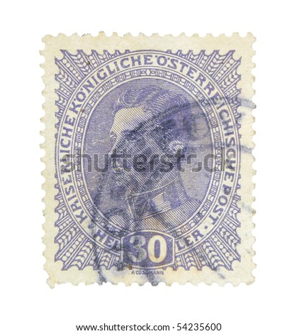 AUSTRIA - HUNGARY - CIRCA 1917: A stamp printed in Austria - Hungary showing emperor Carl I., circa 1917