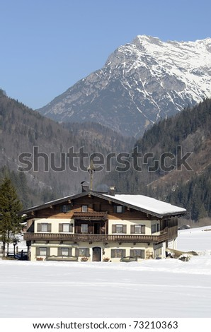 Austria, typical home with bell tower on roof in Tirol, Austria