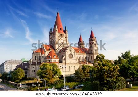 Austria, Vienna, Church Franziska Assizskogo - stock photo