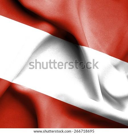 Austria waving flag - stock photo