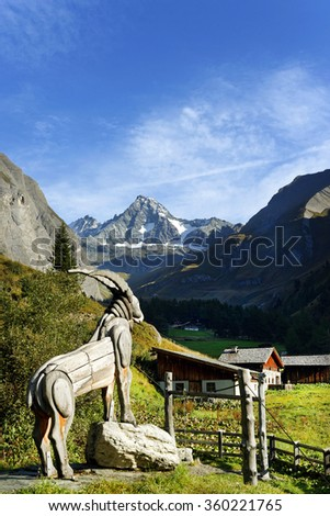 Austrian alps,Grossglockner peak. - stock photo