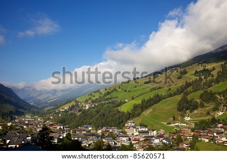 Austrian Alps in the summer