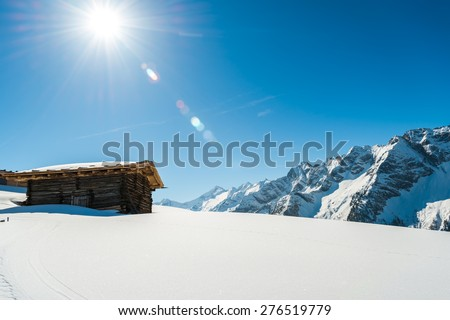 Austrian Alps in the winter - stock photo