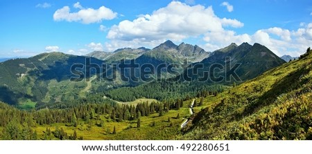 Austrian Alps-panoramic view from Planai