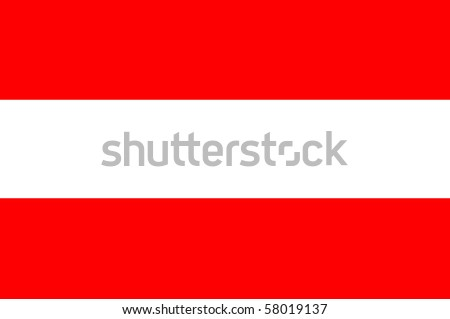 Austrian flag - stock photo