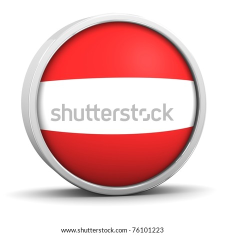 Austrian flag with circular frame. Part of a series.