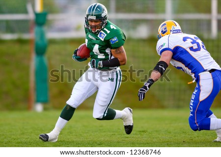 Austrian Football League - Danube Dragons playing against the Graz Giants - May 2008