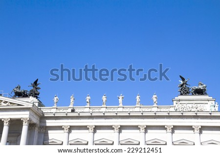 Austrian Parliament Building, Vienna - details - stock photo