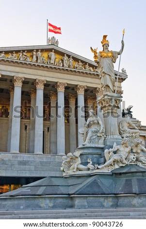 Austrian Parliament in Vienna - stock photo