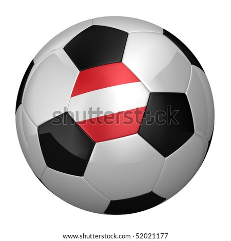 Austrian Soccer Ball isolated over white background
