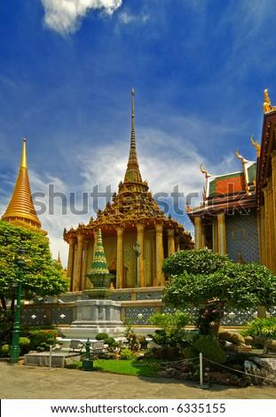 Authentic Architecture Thai Palace - stock photo