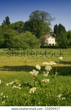 Authentic dutch old house on the countryside. - stock photo