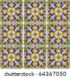 Authentic Spanish Mediterranean Ceramic Tile - stock photo