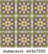 Authentic Spanish Mediterranean Ceramic Tile - stock photo