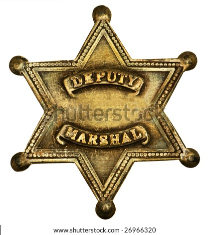 Authentic Star-shaped deputy marshall badge