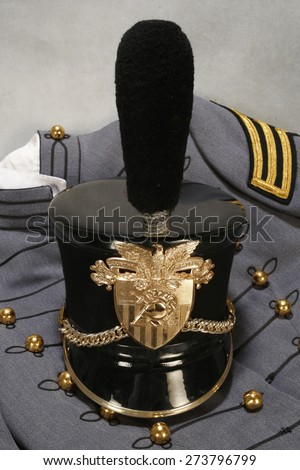 Authentic West Point military uniform with hat. - stock photo