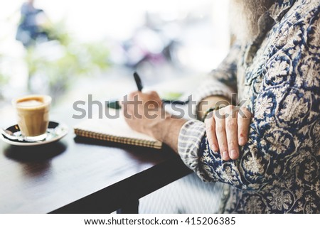 Author Casual Columnist Inspire Journalism Story Concept - stock photo
