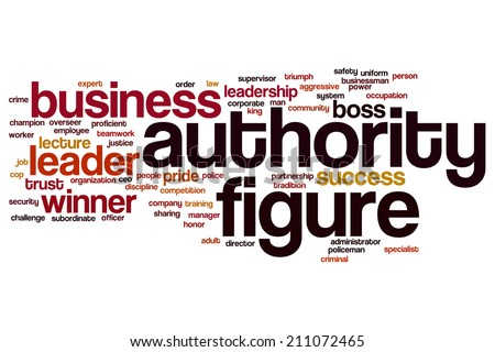 Authority figure concept word cloud background - stock photo