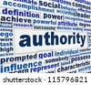 Authority message background. Government power poster conceptual design - stock photo