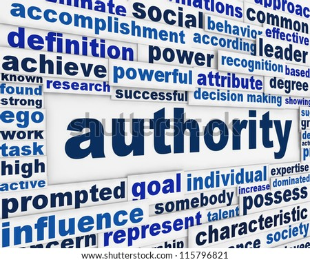 Authority message background. Government power poster conceptual design