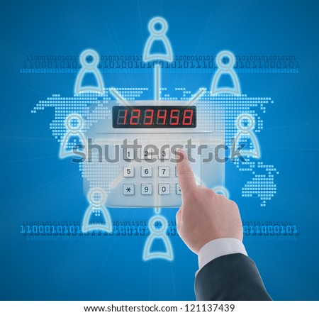 Authorized access to the social network in digital age - stock photo
