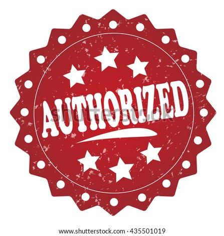 authorized grunge stamp - stock photo