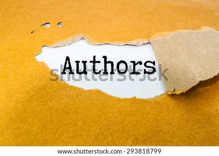 authors word write on brown envelope  - stock photo