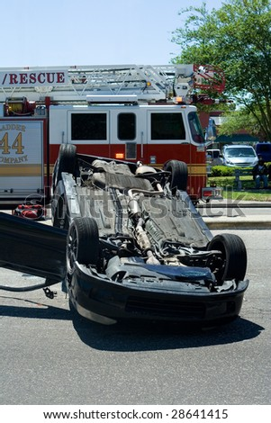 Auto Accident - stock photo