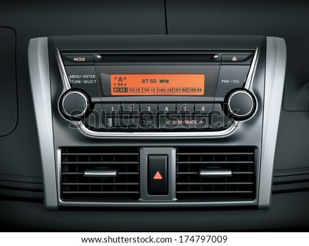 Auto audio control buttons - stock photo
