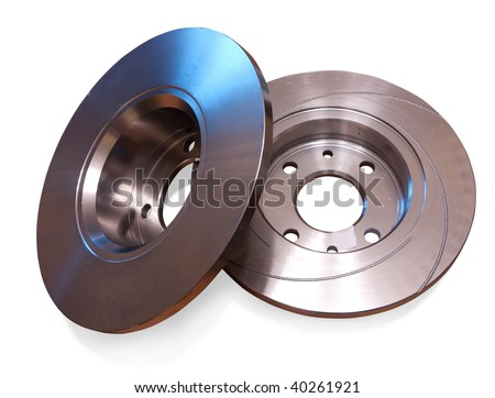Auto circular plate. Isolated on white with clipping path - stock photo