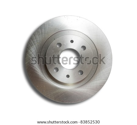 Auto circular plate. Isolated on white with clipping path