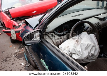 auto crush - stock photo