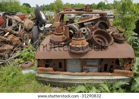 Auto Junkyard Rust - stock photo