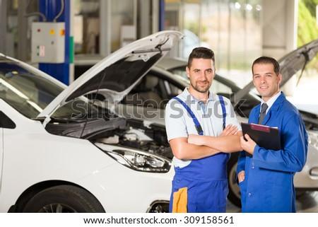 Auto mechanic - stock photo